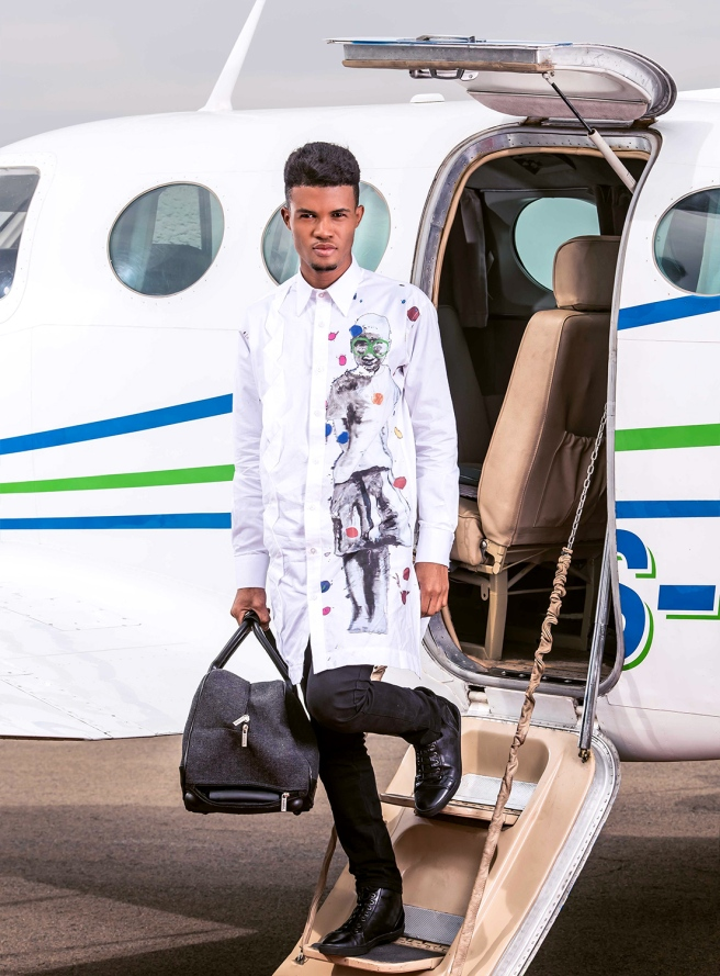 Lawrence Manypaelo: Associate Creative. Dressed by House Of Ole x Nelson Makamo Limited Edition Collection.